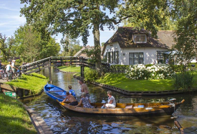 Giethoorn, Países Baixos imagens de stock