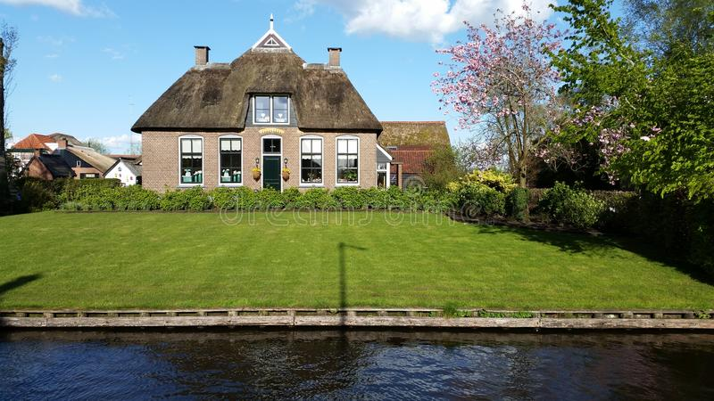 Giethorn Holland traditional house stock photos
