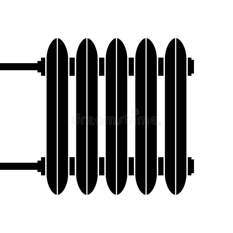 Gietijzerradiator voor verwarmingssystemen royalty-vrije illustratie