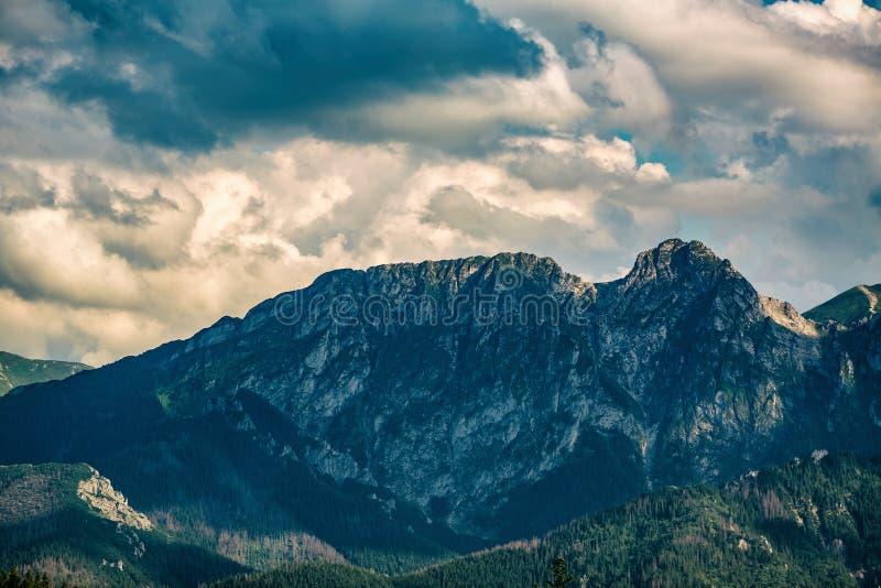 Giewont góra, Inspiruje góra krajobraz w lecie Tatras obrazy royalty free
