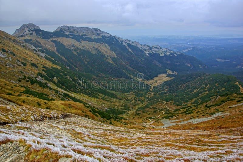 Giewont, montaña del od Tatras del paisaje en Polonia imagen de archivo libre de regalías