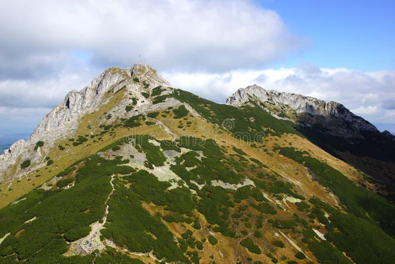 Giewont, montaña del od Tatras del paisaje en Polonia foto de archivo libre de regalías