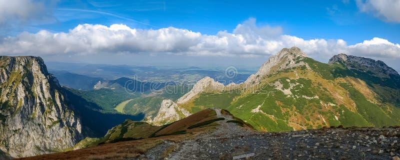 Giewont, Mountain in Polish Tatras with a cross on top, Western Tatras Mountain in Poland stock photos