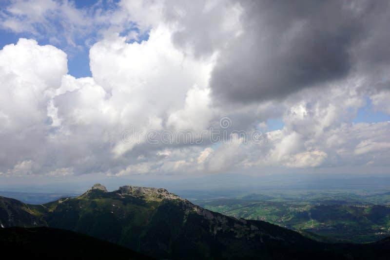 Giewont Mountain View Od Kasprowy Wierch zdjęcia stock