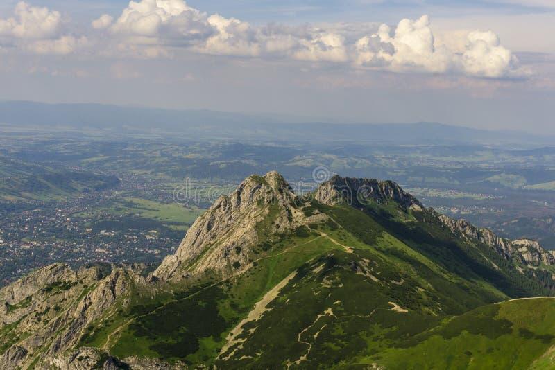Giewont peak on the background of Zakopane. Tatra Mountains. Poland.  royalty free stock images