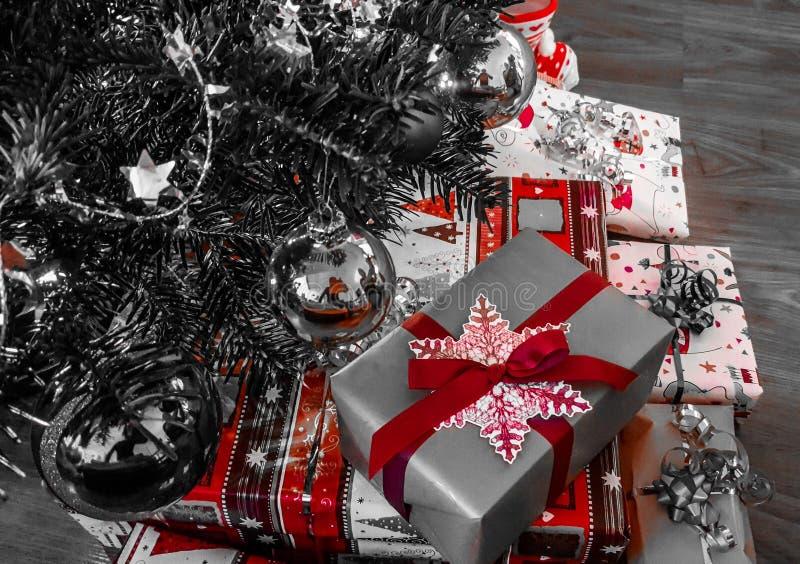 GIF happynewyear del fondo di natale del nopeople del primo piano della decorazione di Natale fotografia stock libera da diritti