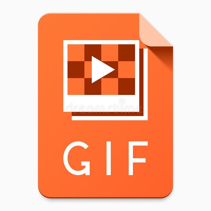 GIF stylowej kartoteki płaski typ piktogram ilustracja wektor