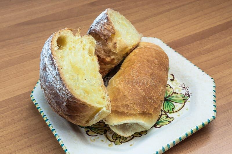 Giffel och bröd fotografering för bildbyråer