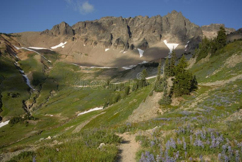 Gifford Pinchot Wilderness. The Gifford Pinchot Wilderness offers a truly breathtaking high alpine experience in washington along the pacific crest trail royalty free stock photos
