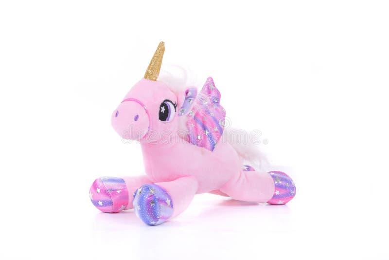 Gifi bonito da criança do brinquedo do luxuoso do unicórnio imagem de stock