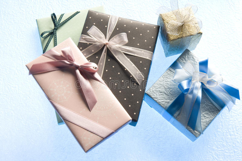 Gift. Still IMAGE-clolorful gift boxes royalty free stock photos
