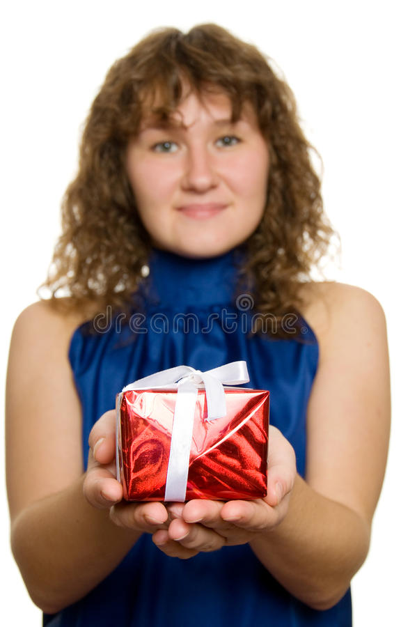 Download Gift stock photo. Image of brown, isolated, person, attractive - 11027972