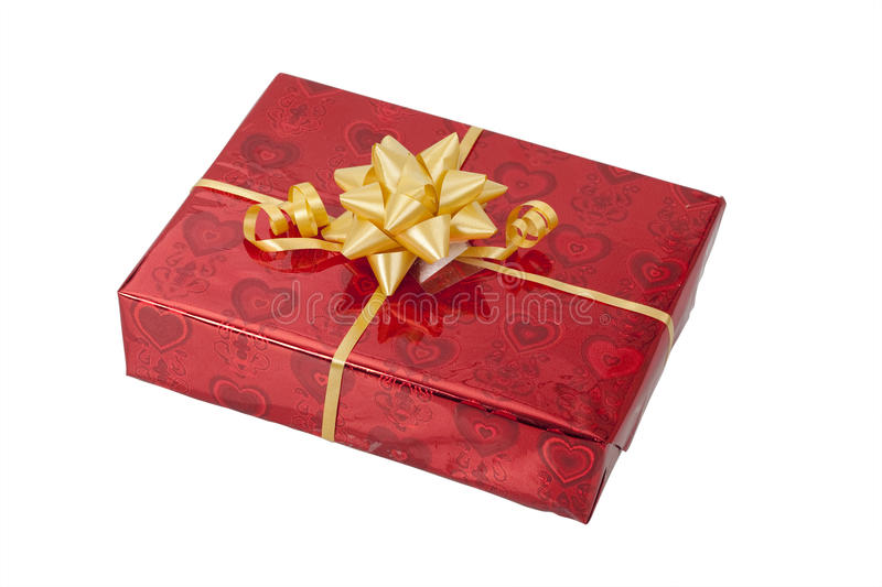 A gift. On white background stock images