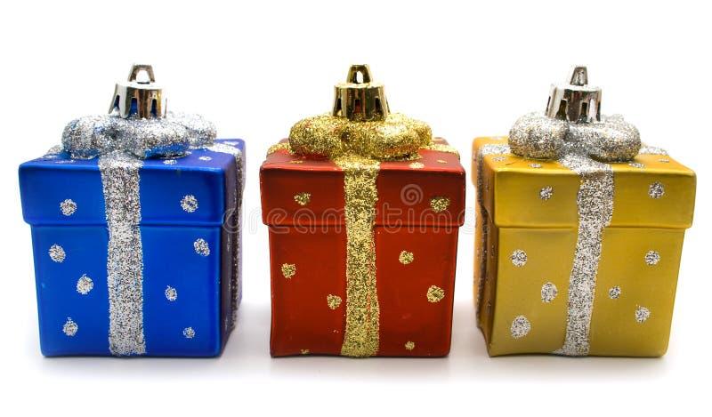 Gift aan Kerstmis royalty-vrije stock foto's
