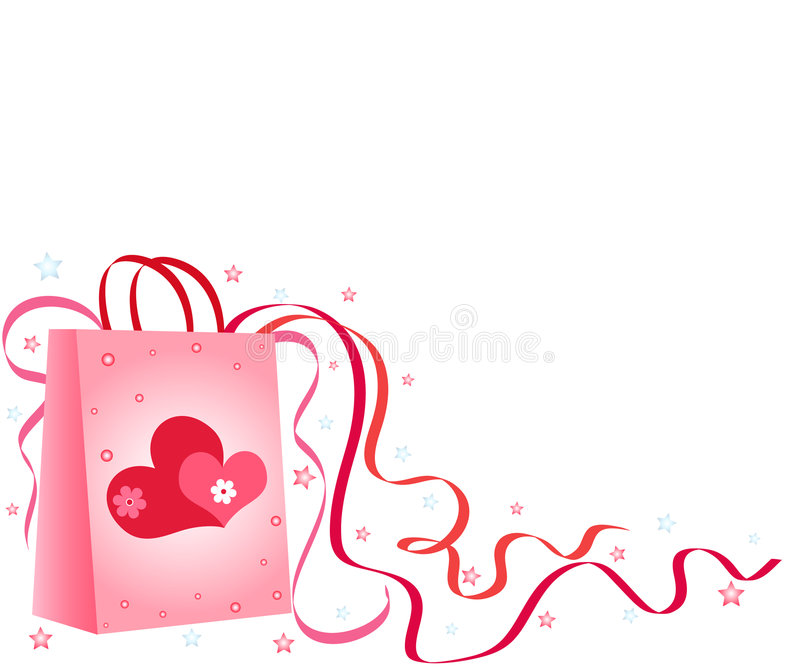 Gift bag royalty free illustration