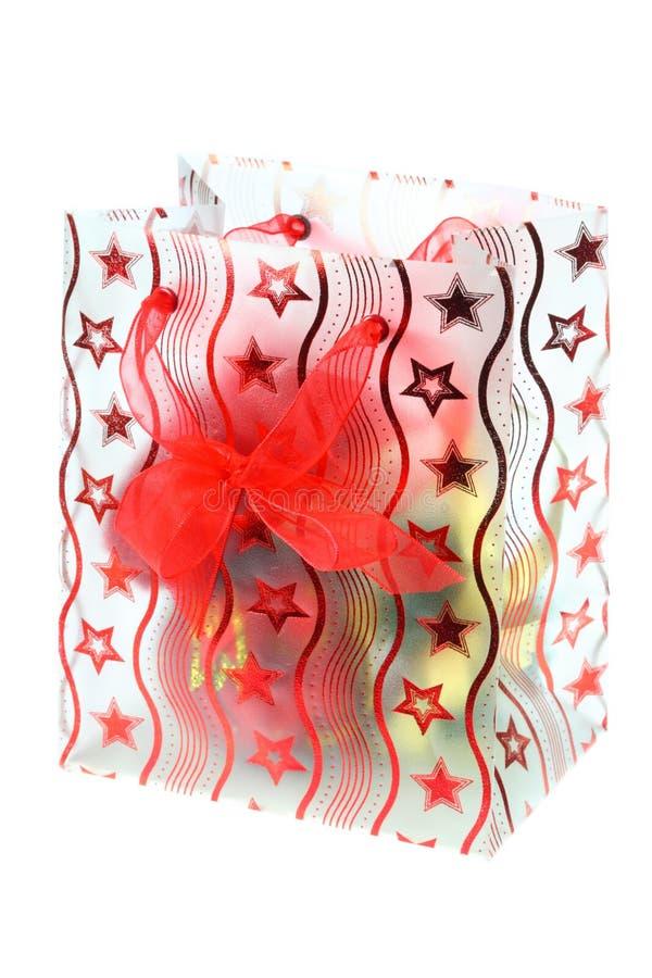 Download Gift bag. stock image. Image of christmas, cardboard, isolated - 6808799