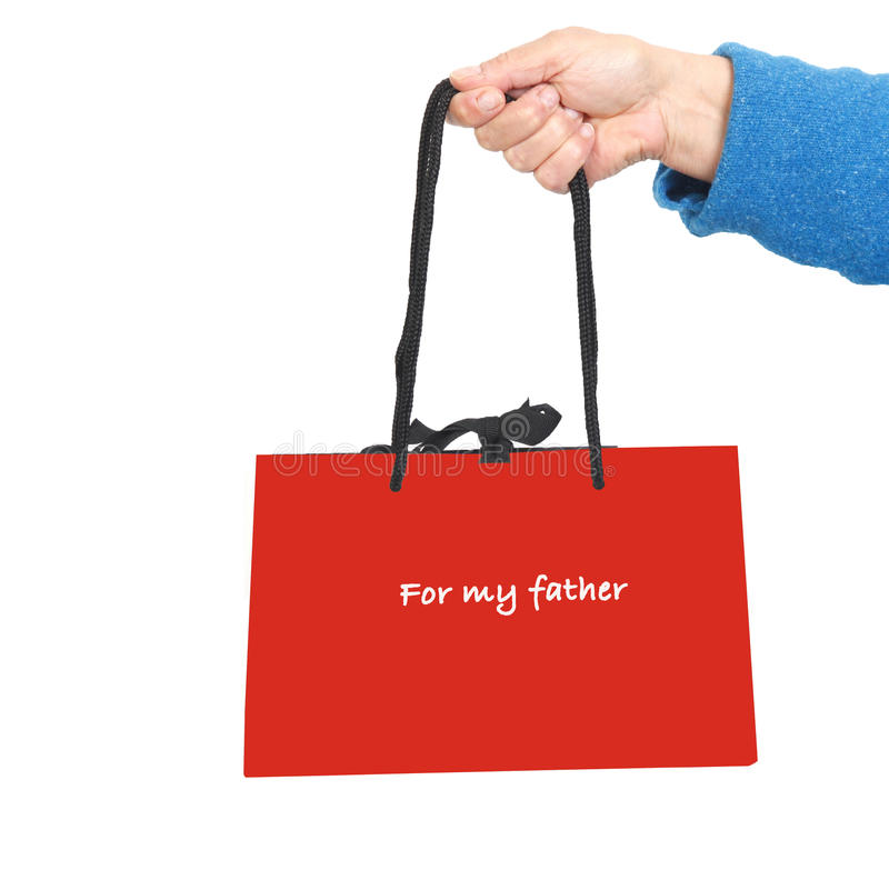 Gift bag for father's day royalty free stock photos