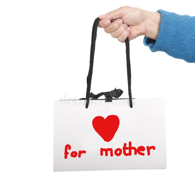 Gift bag for mother royalty free stock photos