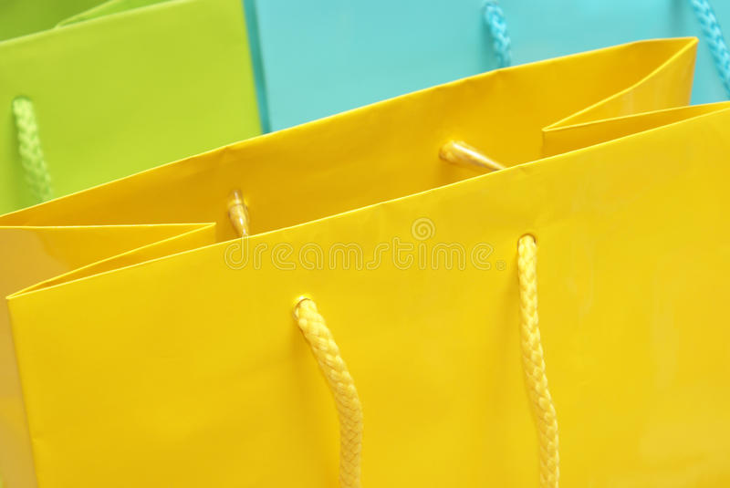 Download Gift Bags stock photo. Image of handle, plain, birthday - 19249076