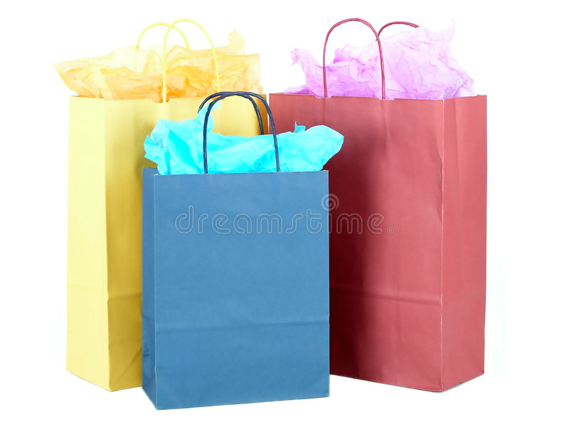 Gift Bags stock photography