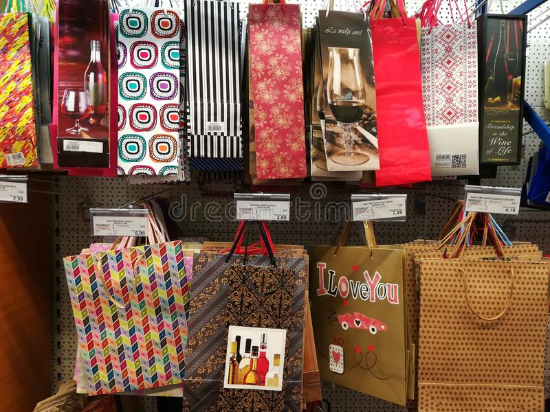 paper gift bags with patterns for easter holidays
