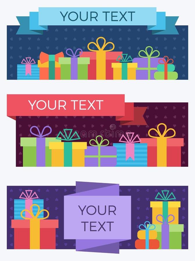 Gift banners. stock illustration