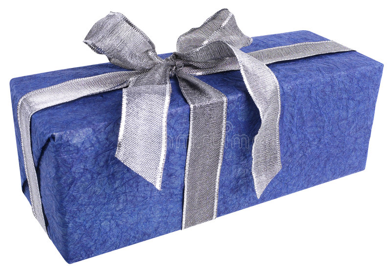 Gift in Blauw stock afbeeldingen