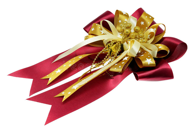 Gift bow isolated on white background. royalty free stock photography