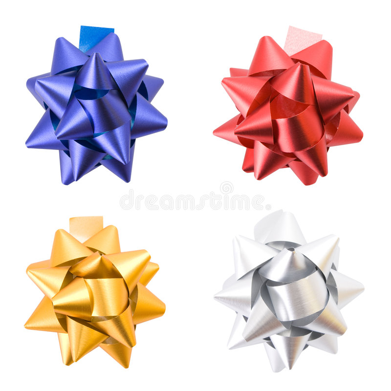 Free Gift Bows Isolated On White Royalty Free Stock Photography - 7336187