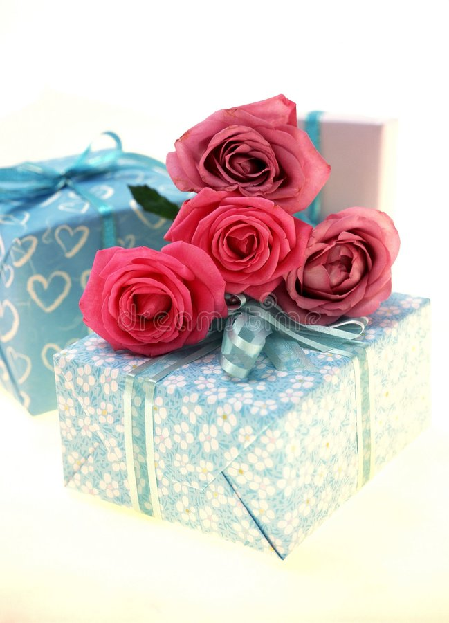 Download Gift Box stock image. Image of celebration, rose, gift - 106477