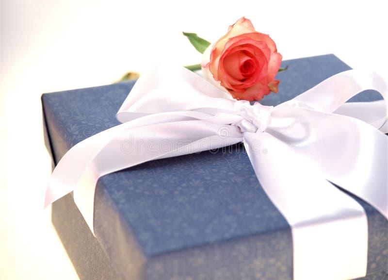 Download Gift Box stock photo. Image of ribbon, rose, celebration - 106496
