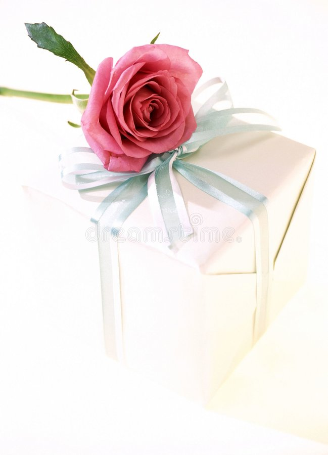 Download Gift Box stock photo. Image of rose, present, paper, package - 106502