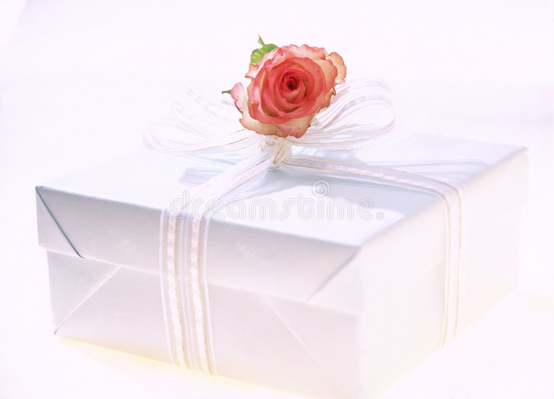 Download Gift Box stock image. Image of rose, decoration, wrapping - 107637