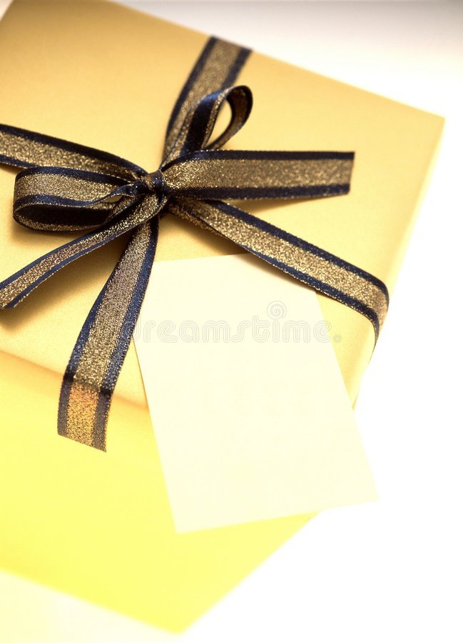 Download Gift Box stock photo. Image of gift, card, package, yellow - 108362