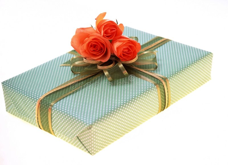 Download Gift Box stock photo. Image of package, petal, present - 108376
