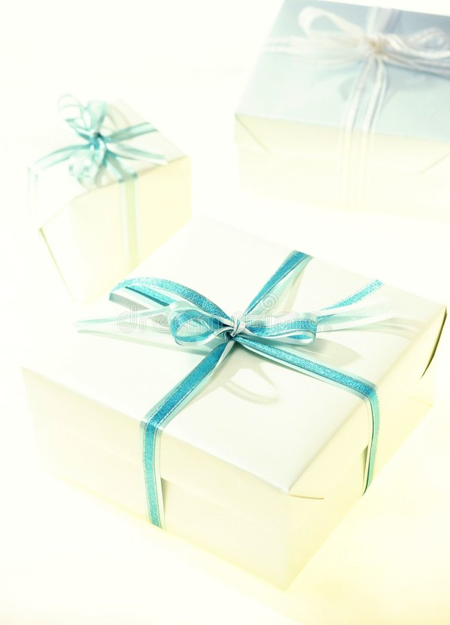 Download Gift Box stock image. Image of turquoise, ribbon, wrapping - 108409