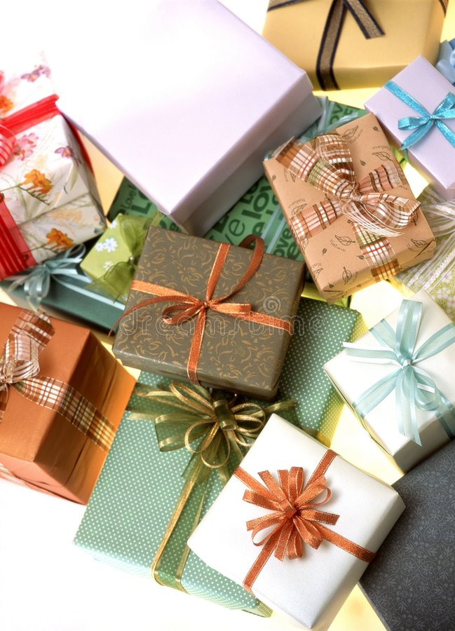 Download Gift Box stock photo. Image of present, paper, package - 111458