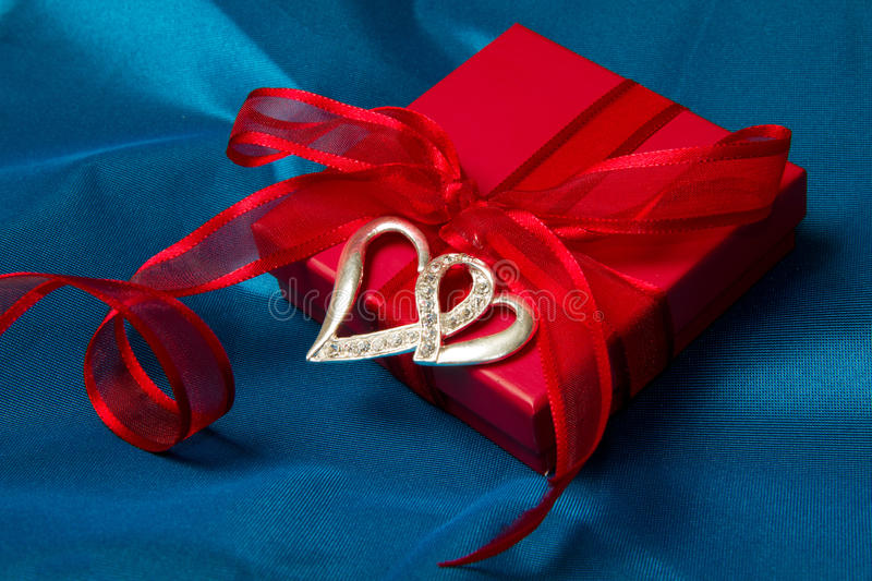 Gift box. Beautiful Valentine's Day Gift royalty free stock photography