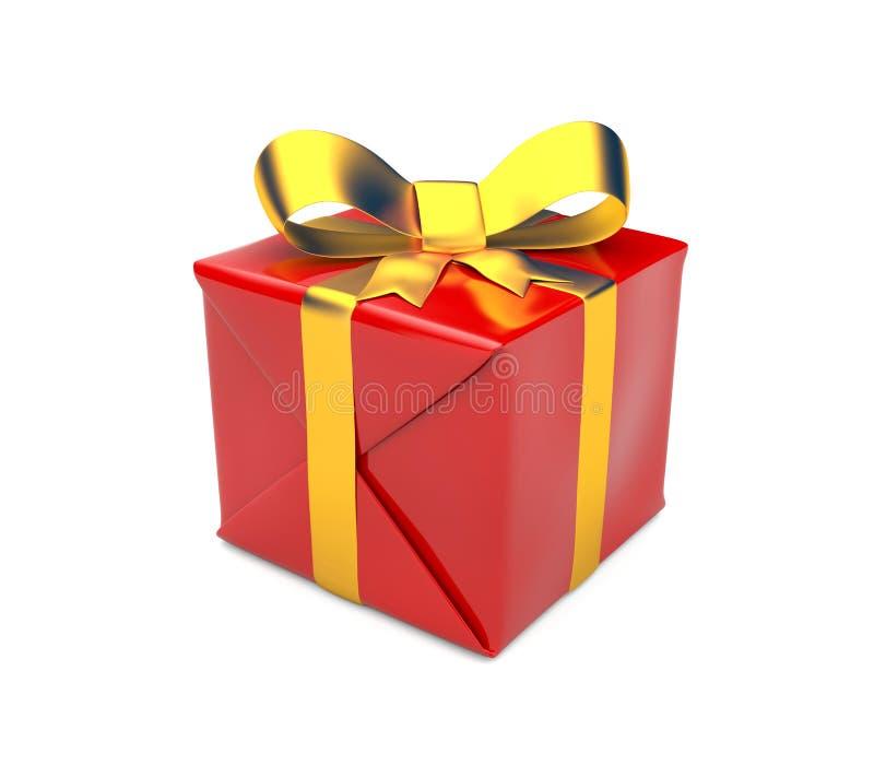 Gift box. Celebration concept. Isolated on white royalty free stock photo