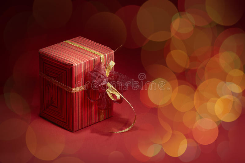 Download Gift box stock image. Image of golden, ribbon, party - 19015751