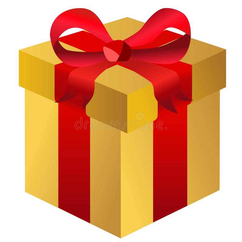 Gift Box Isolated Present royalty free illustration