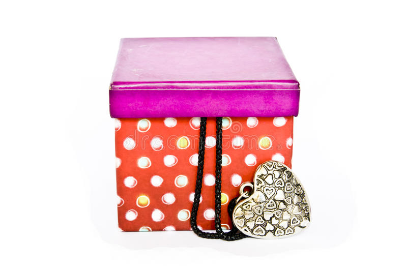 Gift in a box royalty free stock photos
