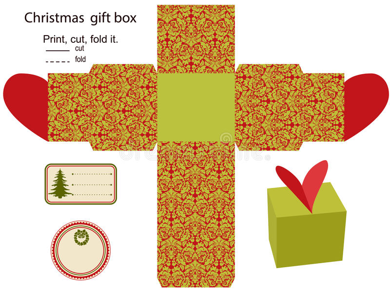 Download Gift box stock vector. Illustration of dieline, food - 27093718