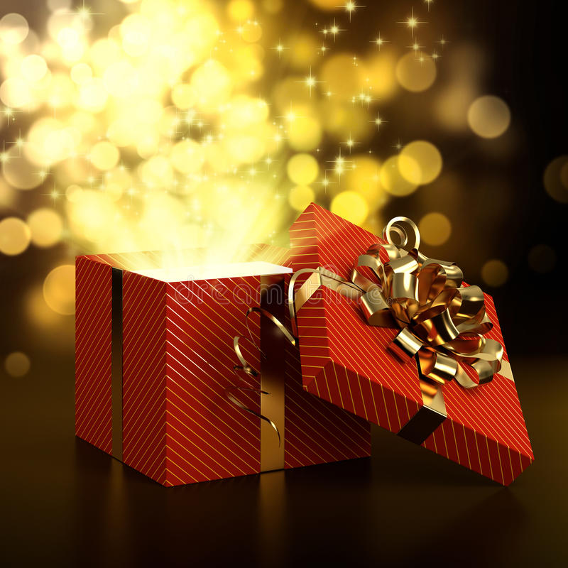 Gift box stock illustration