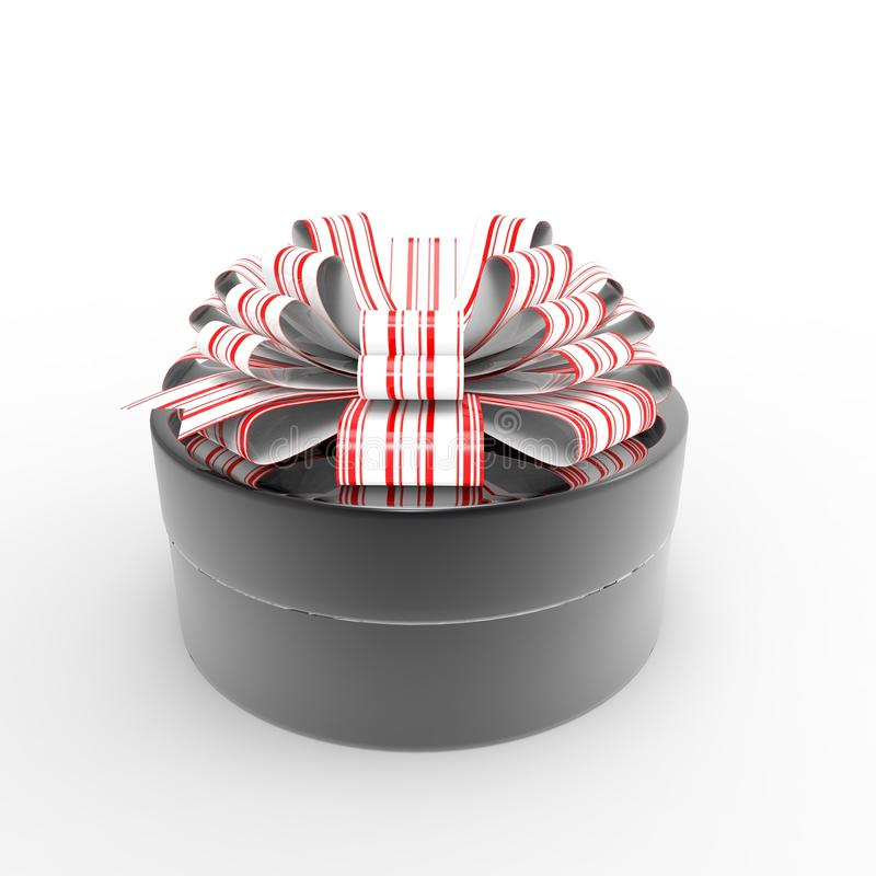 Gift box. This is a 3d illustration of special gift box stock illustration