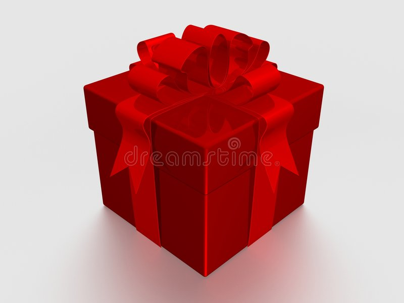 Gift box. 3D image. royalty free stock image
