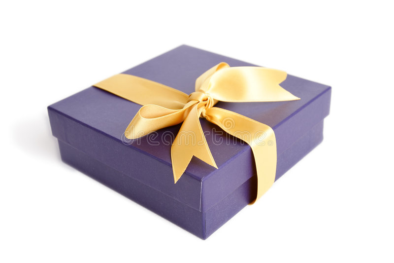 Gift box. With ribbon royalty free stock images
