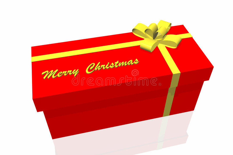 Gift box. Isolated on the white background vector illustration