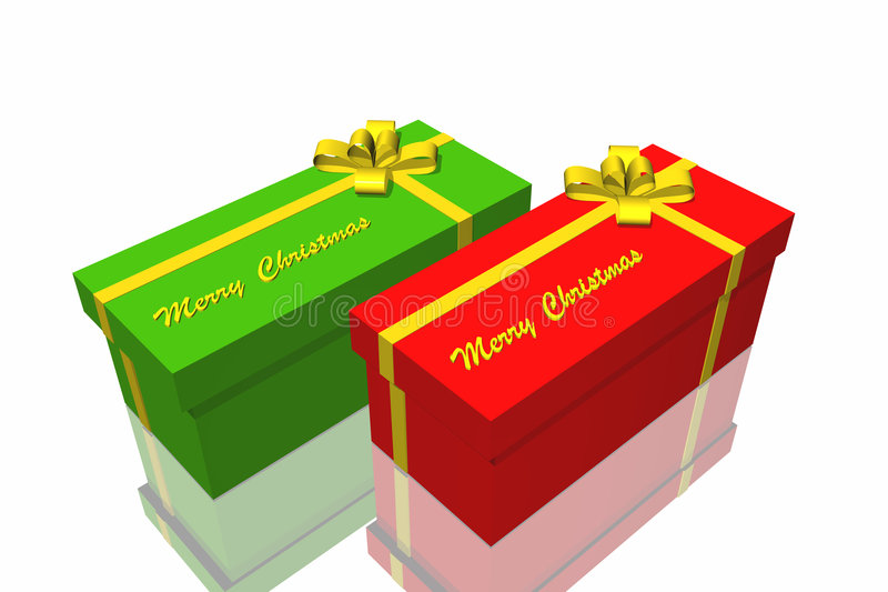 Gift box. On the white background stock illustration
