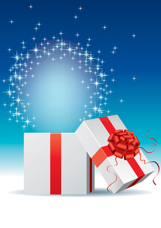 Download Gift box stock vector. Image of mystery, glowing, star - 7878843